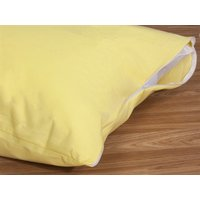 Delis Cotton Pillow Protector Beige Pillow Protector