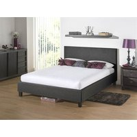 Snuggle Beds Newbury Dark Grey 3' Single Dark Grey Fabric Bed