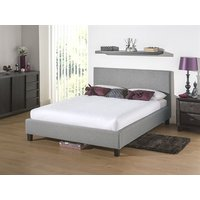 Snuggle Beds Newbury Light Grey 5' King Size Fabric Bed