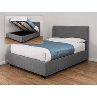 Snuggle Beds Oregon Ottoman Grey Fabric 5' King Size Grey Fabric Bed Frame Only Ottoman Bed