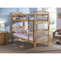 Snuggle Beds Pisa Bunk (Natural) 3' Single Maple Bunk Bed