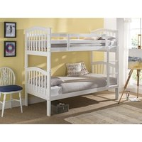 Snuggle Beds Pisa Bunk (White) 3' Single White Bunk Bed