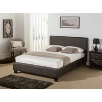 Snuggle Beds Remy Leather (Brown) 5' King Size Brown Bed Frame Only Leather Bed