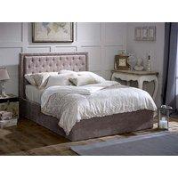 Limelight Rhea Mink Ottoman 5' King Size Mink Velvet Ottoman Bed Ottoman Bed