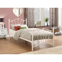 Birlea Sophia Cream 3' Single Cream Metal Bed