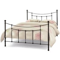 Serene Furnishings Virginia Black 5' King Size Glossy Black Metal Bed