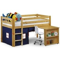 Julian Bowen Wendy Sleeper (With Curtains) Blue 3' Single Natural Cabin Bed