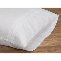 Elainer Moda De Casa Cotton Sateen Pleated Pillow case Pair Oatmeal Pair Pillow Case