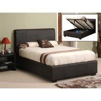 Snuggle Beds Oregon Ottoman (Matte Brown) 6' Super King Dark Brown Ottoman Bed Ottoman Bed