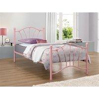 Birlea Sophia Pink 3' Single Pink Metal Bed