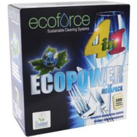 Ecoforce 4 in1 Dishwasher Tablets - 1 x Pack of 100 Tablets
