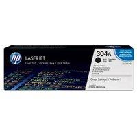 HP 304A Black Original Toner Cartridges - Dual Pack (CC530AD)