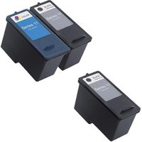 2 x Black Dell Series 11 and 1 x Colour Dell Series 11 (Remanufactured) + 1 Free Paper