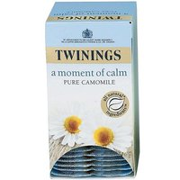 Twinings A Moment of Calm (Pure Camomile) Individually-wrapped Infusion Tea Bags (Pack of 20 Tea Bags)