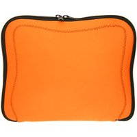 Orange Memory Foam Neoprene Laptop / Notebook Sleeve With Black Stitching Up to 10.2 Inch Laptop