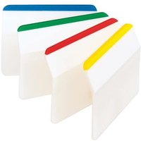 Post-it Index Filing Tabs Strong Angled Six Colours Assorted (6 x 24 Tabs)