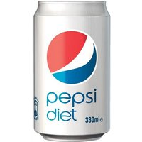 Pepsi Cola Diet Pepsi 300ml Can (1 x Pack of 24 Cans)