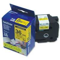 Brother P-touch TZe-661 (36mm x 8m) Black on Yellow Laminated Labelling Tape