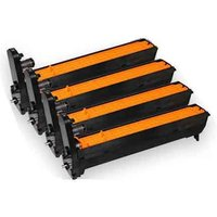1 Full Set of OKI 42126673 Black and 1 x Colour Set 42126670/71/72 Original Toner Cartridges