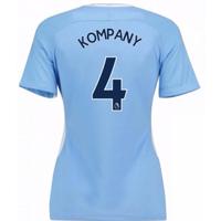 2017-18 Man City Womens Home Shirt (Kompany 4)