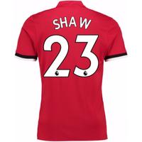 2017-2018 Man United Home Shirt (Shaw 23)