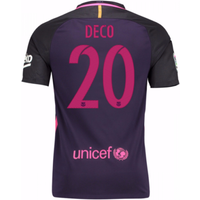 2016-17 Barcelona With Sponsor Away Shirt - (Kids) (Deco 20)