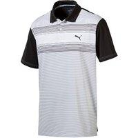 Puma Golf Mens Highlight Stripe Polo Shirt