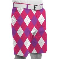 Royal And Awesome Back To The Fuchsia Golf Shorts