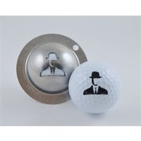 Tin Cup Ball Marker Spy Game