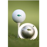Tin Cup Ball Marker Gone Fishing