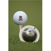 Tin Cup Ball Marker Jolly Roger