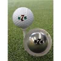 Tin Cup Ball Marker Lucky 7