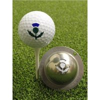 Tin Cup Ball Marker Thistle