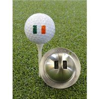 Tin Cup Ball Marker World Flags