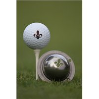 Tin Cup Ball Marker Fleur De Lis