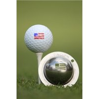 Tin Cup Ball Marker Stars and Stripes