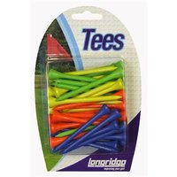 Neon Wooden Tees 40 Pack