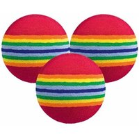 Foam Multi Coloured Practice Balls 6 Balls