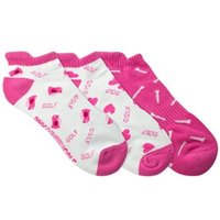 Ladies Patterned Golf Socks 3 Pack