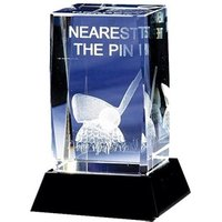 Crystal Nearest The Pin Golf Trophy