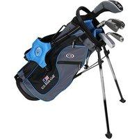 US Kids Light Blue Starter Golf Set 6 8 Years