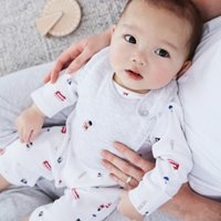 London Bear Sleepsuit & Bib Set