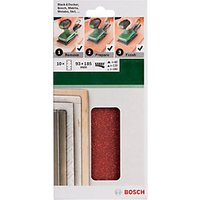 Bosch 10 Piece 1/3 Sheet Mixed Grit