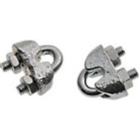 Wickes Bright Zinc Plated Wire Rope Clamp 3mm Pack 2