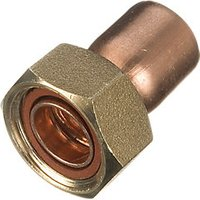 Wickes End Feed Straight Tap Connector 22mm Pack 2