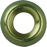 Wickes Brass Screw Cup Washers No.4 Pack 20