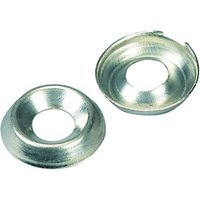 Wickes Nickel Screw Cup Washers No.8 Pack 20