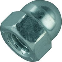 Wickes Steel Dome Nuts M10 Pack 6