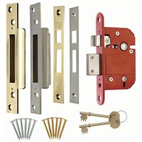 Era British Standard CE 5L Fortress Deadlock 64mm Brass/Chrome