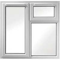 Wickes Upvc A Rated Casement Window White 1190 x 1160mm Lh Side Hung & Top Hung